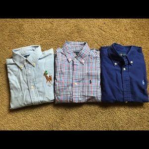 Ralph Lauren shirts, size 5